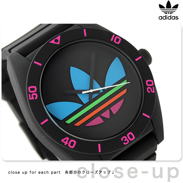 Adidas originals Santiago XL men watch ADH2970 adidas quartz black X multicolored