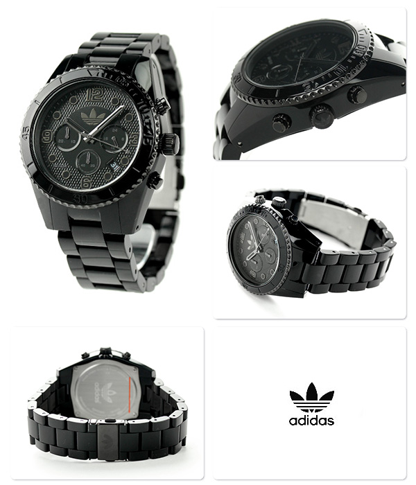 Adidas Brisbane nylon chronograph watch ADH2983 adidas quartz oar black