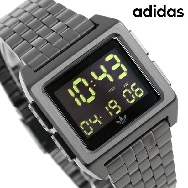 アディダス オリジナルス デジタル メンズ レディース 腕時計 Z01001-00 adidas アーカイブ_M1 オールブラック【あす楽対応】