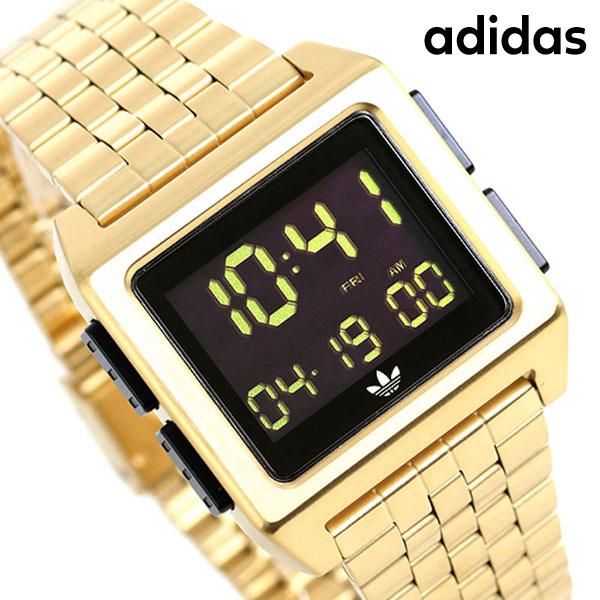 アディダス オリジナルス デジタル メンズ レディース 腕時計 Z01513-00 adidas アーカイブ_M1 ブラック×ゴールド【あす楽対応】