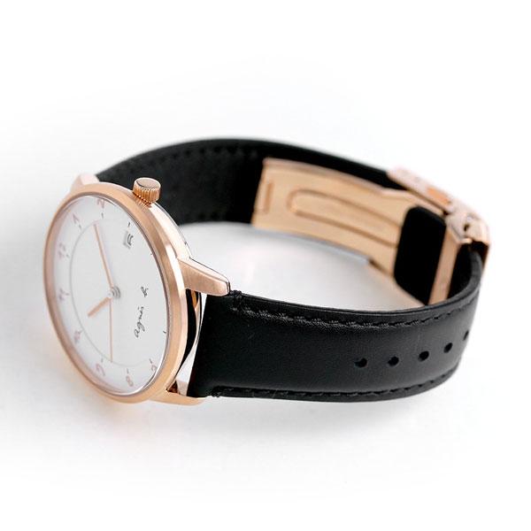 94da241237 アニエスベー マルチェロ 日本製 メンズ 腕時計 FBRK998 agnes b. ホワイト×ブラック