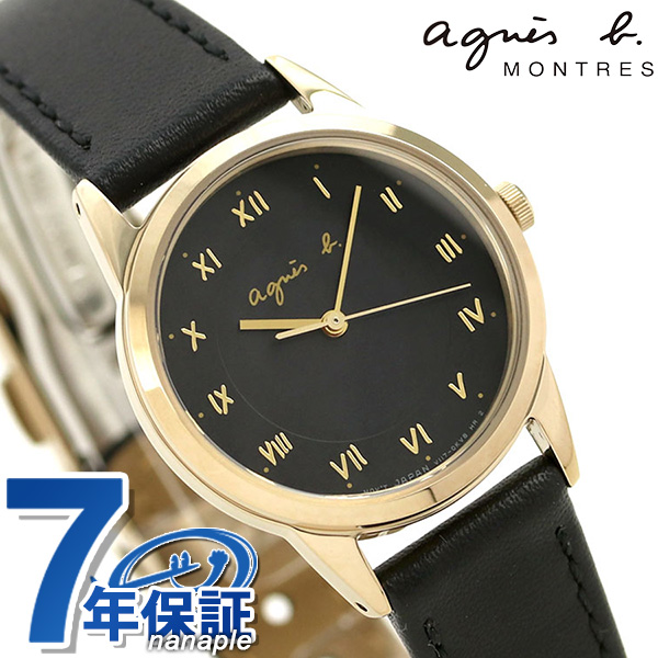 アニエスベー 時計 レディース ソーラー FBSD941 agnes b. マルチェロ ブラック 革ベルト 腕時計【あす楽対応】