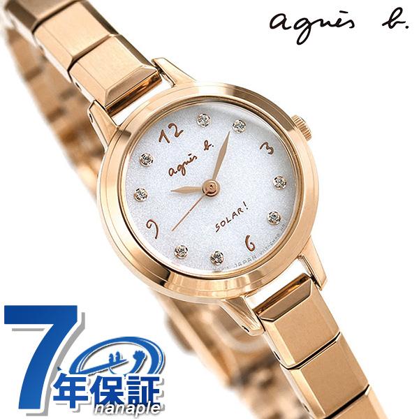 アニエスベー 時計 レディース ソーラー FBSD950 agnes b. マルチェロ シルバー×ピンクゴールド 腕時計【あす楽対応】