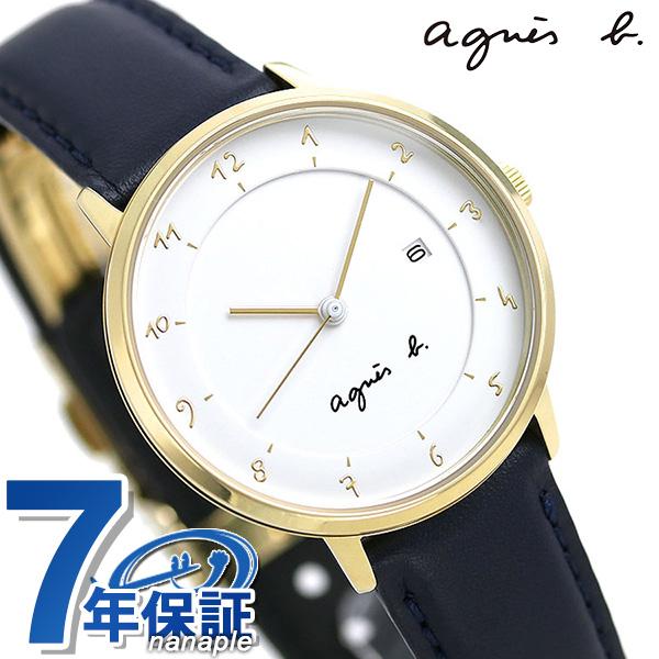 アニエスベー 時計 レディース マルチェロ ホワイト×ネイビー FBSK943 agnes b. 腕時計 革ベルト