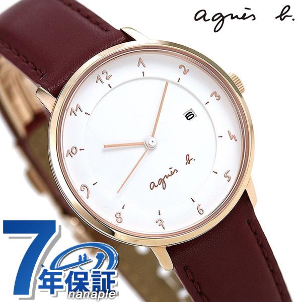 アニエスベー 時計 レディース FBSK945 agnes b. マルチェロ ホワイト×レッド 赤 革ベルト 腕時計【あす楽対応】