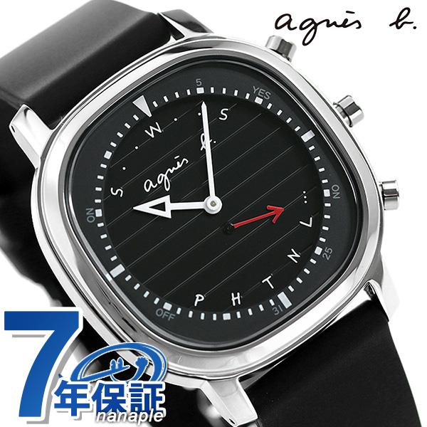 アニエスベー メンズ 腕時計 FCRB402 agnes b. 時計 Bluetooth ブラック【あす楽対応】