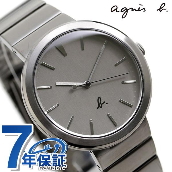 アニエスベー メンズ 腕時計 シンプル 3針 FCRK984 agnes b. グレー 時計【あす楽対応】