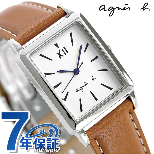 アニエスベー マルチェロ レクタングル ブラウン 革ベルト FCRK993 agnes b. メンズ 腕時計 時計【あす楽対応】