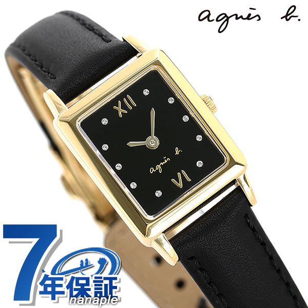 今なら店内ポイント最大49倍! アニエスベー マルチェロ クリスマス 限定モデル レディース 腕時計 FCSK721 agnes b. レクタングル ブラック 時計