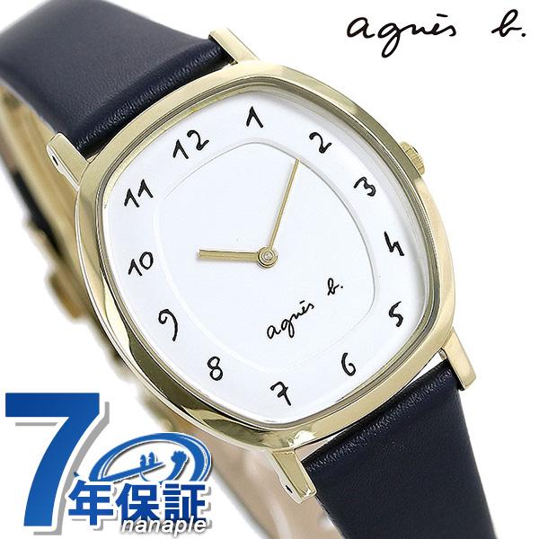 【10日はさらに+4倍で店内ポイント最大53倍】 アニエスベー 時計 レディース 腕時計 agnes b. マルチェロ FCSK928 ホワイト×ネイビー【】