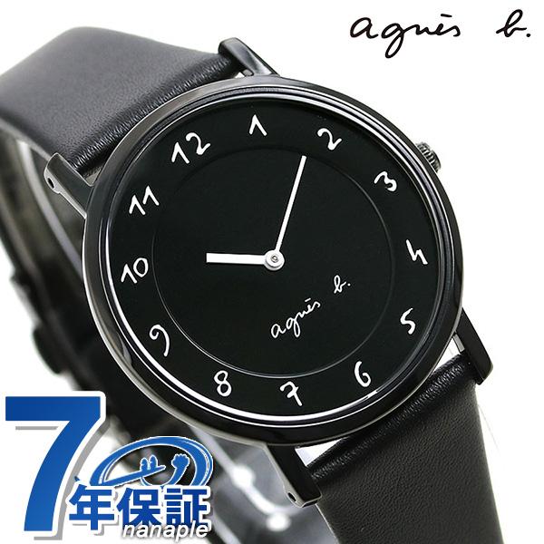 アニエスベー 時計 レディース マルチェロ FCSK931 agnes b. オールブラック 腕時計 革ベルト【あす楽対応】