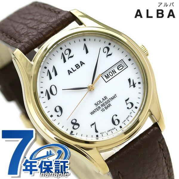 セイコー 送料無料限定セール中 SEIKO アルバ 正規品 新品 7年保証 送料無料 今ならポイント最大28.5倍 ソーラー あす楽対応 ホワイト×ブラウン メンズ 時計 AEFD544 ALBA 最新号掲載アイテム 腕時計 デイデイト
