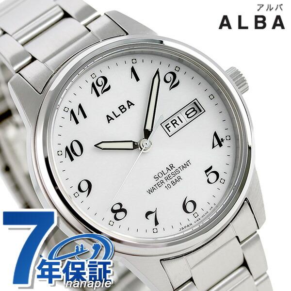 セイコー アルバ ソーラー 日本製 メンズ 腕時計 AEFD561 SEIKO ALBA ホワイト 時計【あす楽対応】