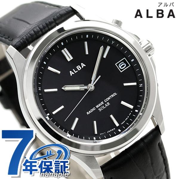 セイコー アルバ 電波ソーラー メンズ 腕時計 AEFY505 SEIKO ALBA ブラック 時計【あす楽対応】