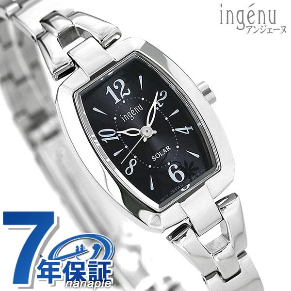 SEIKO セイコー アルバ ALBA アンジェーヌ ソーラー 腕時計 トノーフラワー ブラック AHJD060 時計