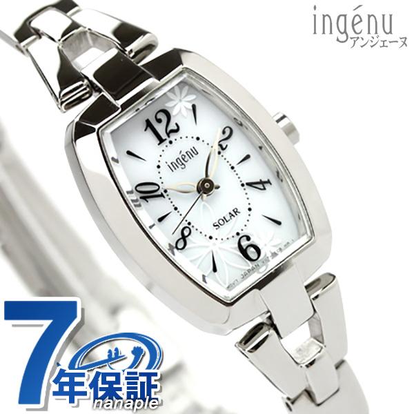 セイコー アルバ アンジェーヌ ソーラー 腕時計 トノーフラワー ホワイト AHJD061 SEIKO ALBA ingenu 時計【あす楽対応】
