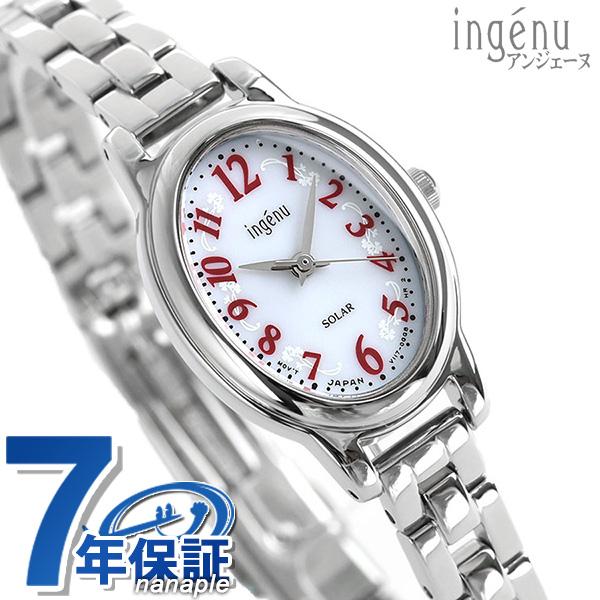 セイコー アンジェーヌ オーバルソーラーモデル レディース AHJD081 SEIKO ALBA ingenu 腕時計 ホワイト 時計【あす楽対応】