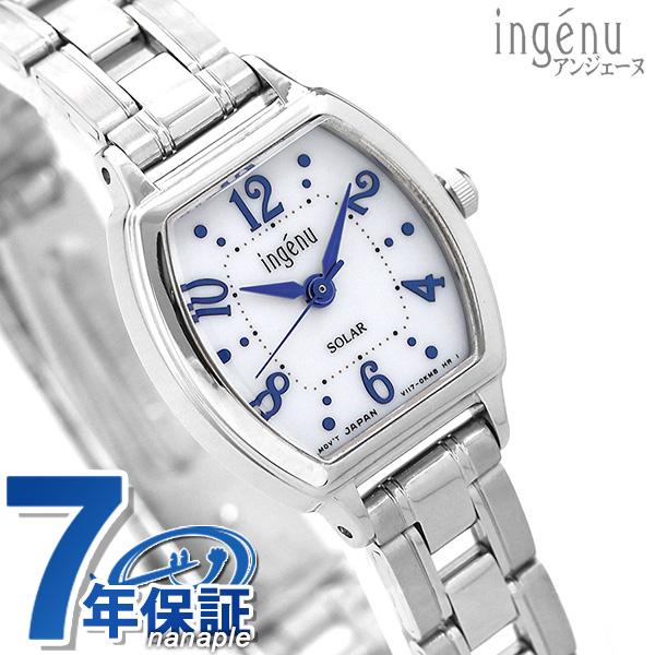 セイコー アルバ アンジェーヌ トノー型 ソーラー AHJD107 SEIKO ALBA レディース 腕時計 ホワイト 時計