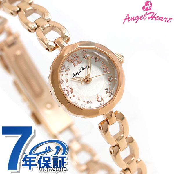 【ノベルティ付き♪】エンジェルハート ブリリアントフラワー レディース 腕時計 BF21PW Angel Heart ホワイト×ピンクゴールド 時計