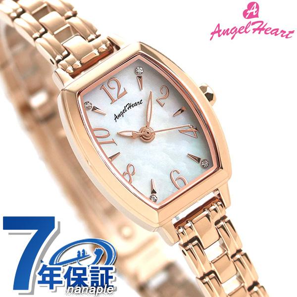 エンジェルハート ファーストスター 20mm ソーラー レディース 腕時計 スワロフスキー FS20PG AngelHeart ホワイトシェル×ピンクゴールド【あす楽対応】