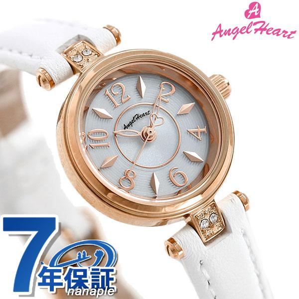 エンジェルハート ハッピープリズム 22mm ソーラー レディース HP22P-WH AngelHeart 腕時計 革ベルト 時計