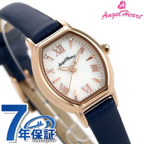 エンジェルハート レディース 腕時計 トノー ソーラー リュクス 23mm LU23P-NV AngelHeart 革ベルト 時計【あす楽対応】