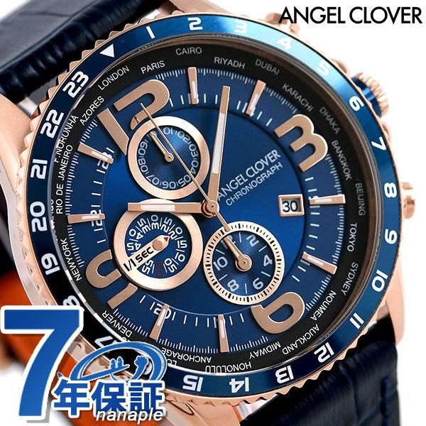 エンジェルクローバー モンド クロノグラフ メンズ MO44PNV-NV Angel Clover 腕時計 ネイビー 時計
