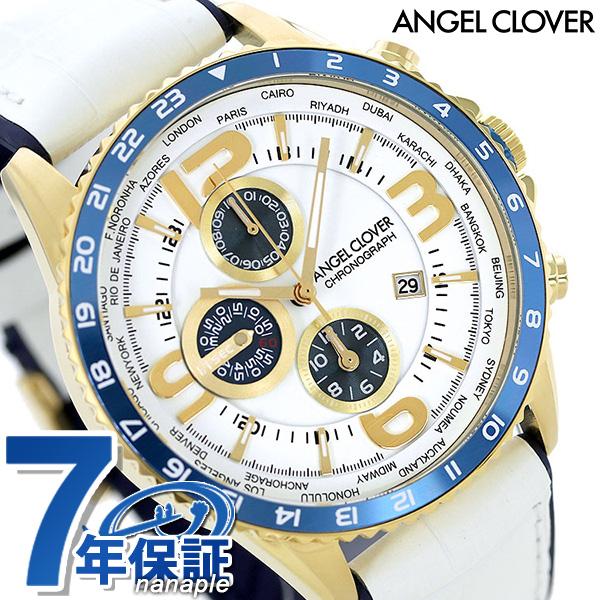 nanaple: Angel clover clock Mond 47mm chronograph men watch MO44YNV