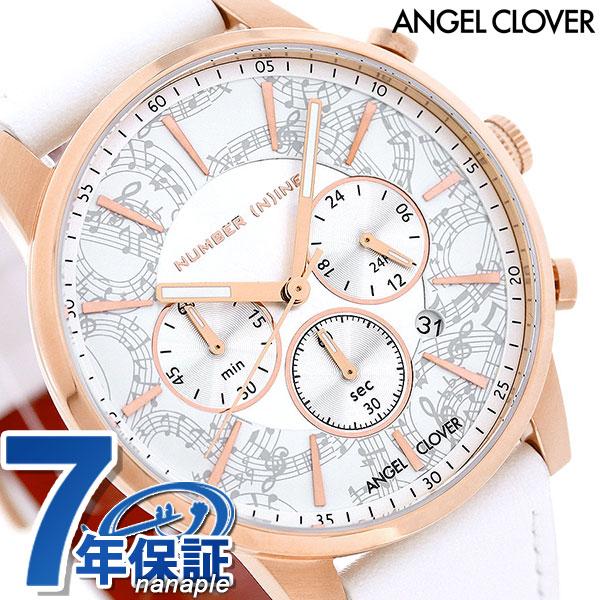 エンジェルクローバー NUMBER (N)INE コラボモデル メンズ NNC42PWH-WH Angel Clover 腕時計 ホワイト 時計