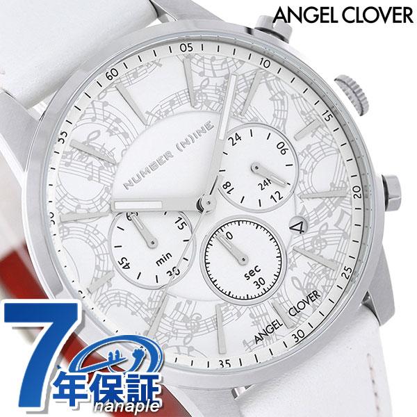 エンジェルクローバー ナンバーナイン メンズ 腕時計 NNC42SWH-WH ホワイト ANGEL CLOVER