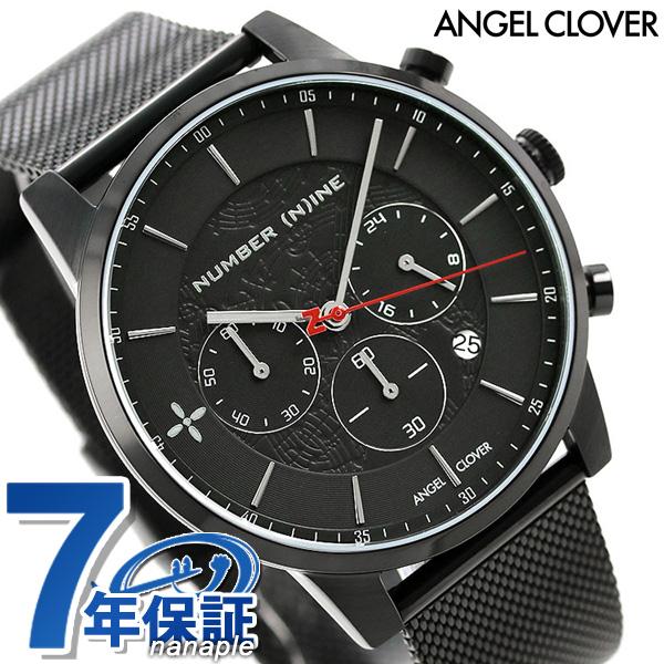 エンジェルクローバー メンズ 腕時計 NUMBER (N)INE クロノグラフ NNCH42BBK ANGEL CLOVER オールブラック 時計