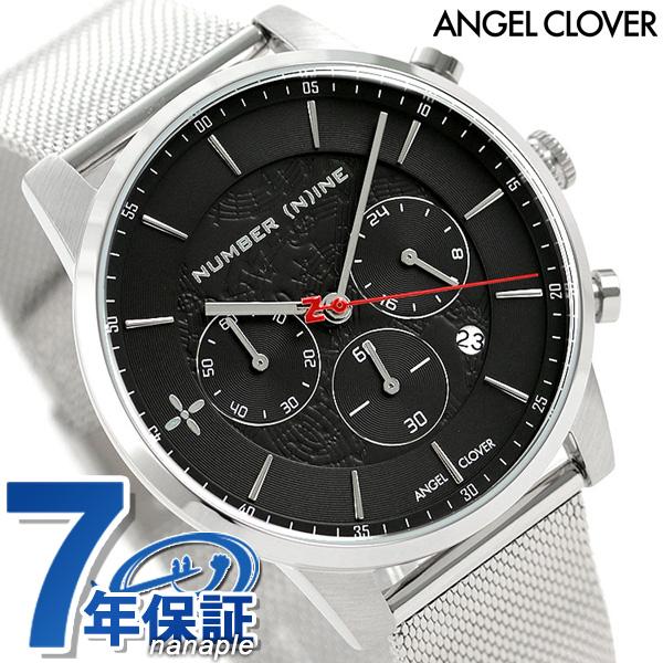 エンジェルクローバー メンズ 腕時計 NUMBER (N)INE クロノグラフ NNCH42SBK ANGEL CLOVER ブラック 時計