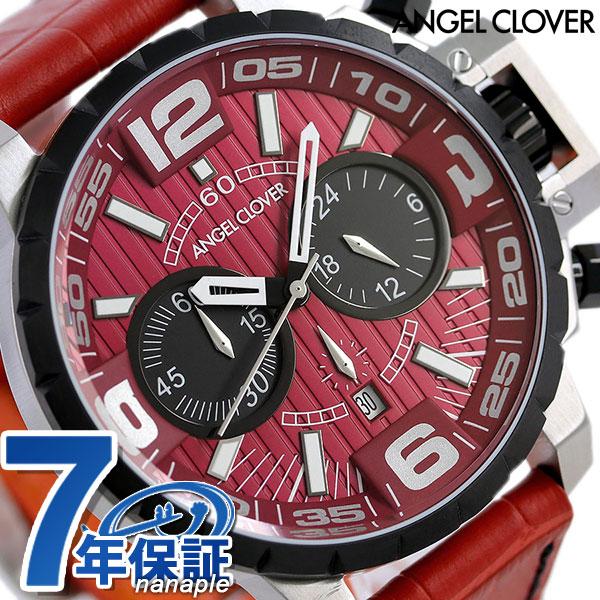 エンジェルクローバー タイムクラフト クロノグラフ メンズ NTC48SRE-REN Angel Clover 腕時計 レッド 時計