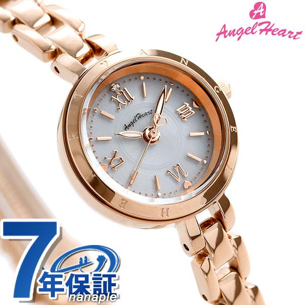 エンジェルハート ピュア・エンジェル ソーラー レディース PA22PG AngelHeart 腕時計 シルバー×ピンクゴールド 時計