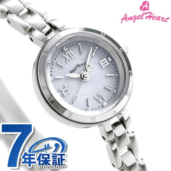 当店なら!さらにポイント+4倍!24日23時59分まで エンジェルハート ピュア・エンジェル ソーラー レディース PA22SW AngelHeart 腕時計 シルバー 時計