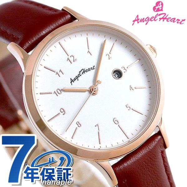 エンジェルハート パステルハート ソーラー レディース 腕時計 PH32P-RD AngelHeart レッド 革ベルト 時計