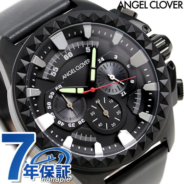 エンジェルクローバー ラギッド クロノグラフ メンズ RG46BBK-GRY Angel Clover 腕時計 ブラック 時計
