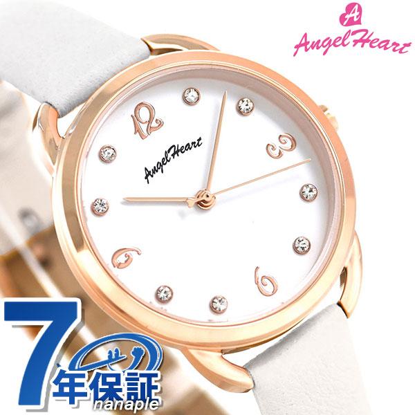 エンジェルハート ヴィーナス ソーラー レディース 腕時計 VI31P-WH AngelHeart ホワイト 革ベルト 時計