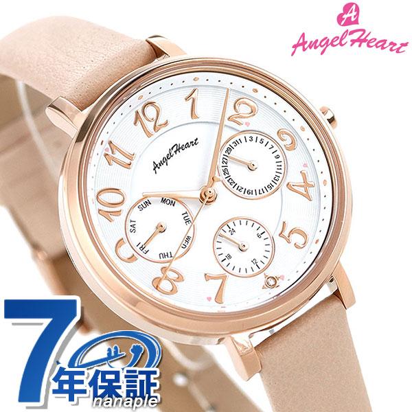 店内ポイント最大43倍!16日1時59分まで! エンジェルハート ソーラー ダイヤモンド レディース 腕時計 WS33P-PK AngelHeart ウィッシュ スター 33mm 時計【あす楽対応】