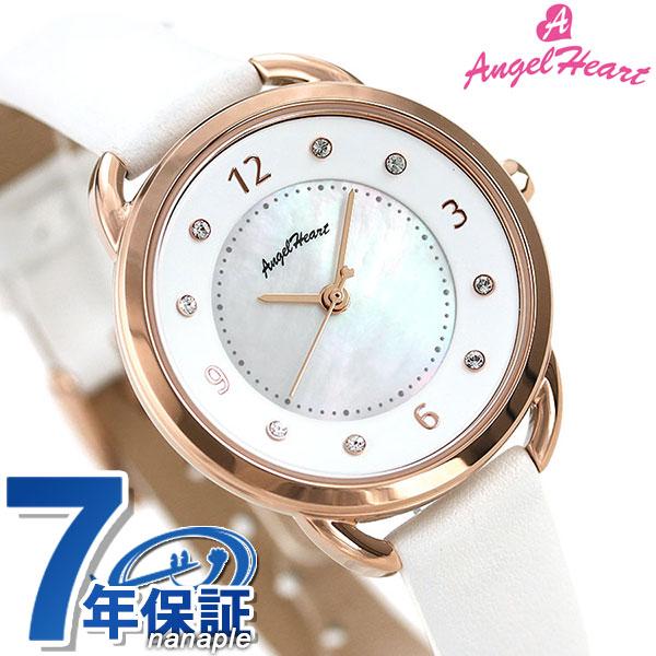 エンジェルハート 吉岡里帆 コラボモデル レディース 腕時計 ソーラー YR31P-WH AngelHeart ホワイトシェル 時計【あす楽対応】