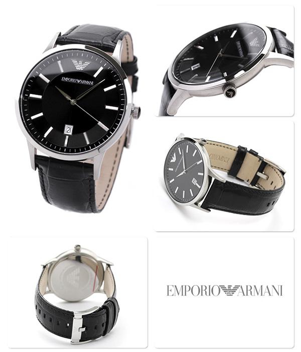 best service 858d0 4d41f アルマーニ 時計 メンズ クラシック デイト ブラック レザーベルト EMPORIO ARMANI エンポリオ アルマーニ 腕時計  AR2411【あす楽対応】|腕時計のななぷれ