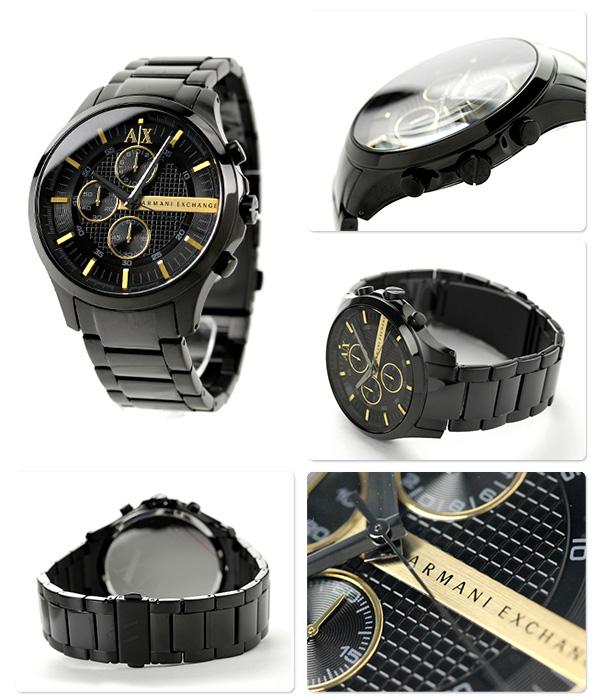 阿瑪尼交換智能計時儀AX2164 AX ARMANI EXCHANGE人手錶全部黑色