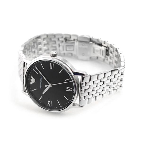 wholesale dealer 2cf3e 27c3c 当店なら!さらにポイント+4倍!24日23時59分まで エンポリオ アルマーニ メンズ 腕時計 カッパ 41mm AR11152 EMPORIO  ARMANI ブラック 時計【あす楽対応】 腕時計のななぷれ