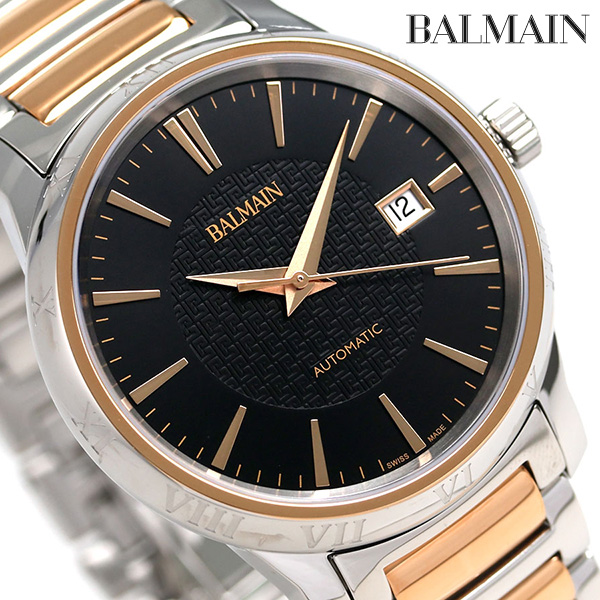 BALMAIN バルマン 時計 スイス製 自動巻き メンズ B1548.33.66 腕時計 ブラック【あす楽対応】