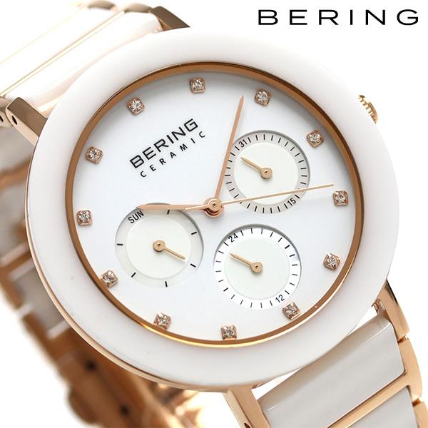 ベーリング リンク セラミック 38mm クオーツ レディース 11438-766 BERING 腕時計 ホワイト 時計【あす楽対応】