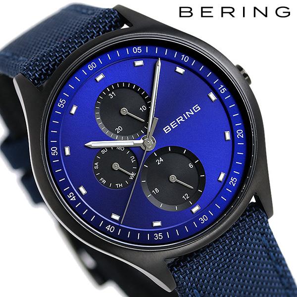 ベーリング チタン メンズ 腕時計 チタ二ウム 41mm 11741-827 BERING ブルー 時計【あす楽対応】