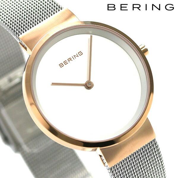 ベーリング カービング メッシュ 31mm クオーツ レディース 14531-060 BERING 腕時計 シルバ― 時計【あす楽対応】