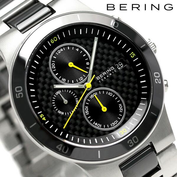 ベーリング リンク セラミック 40mm クオーツ メンズ 33341-749 BERING 腕時計 ブラック 時計【あす楽対応】
