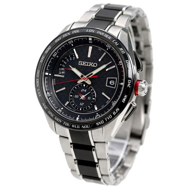 c2f0130f1a セイコー ブライツ スポーティライン デュアルタイム 電波ソーラー SAGA259 SEIKO メンズ 腕時計 ブラック 時計
