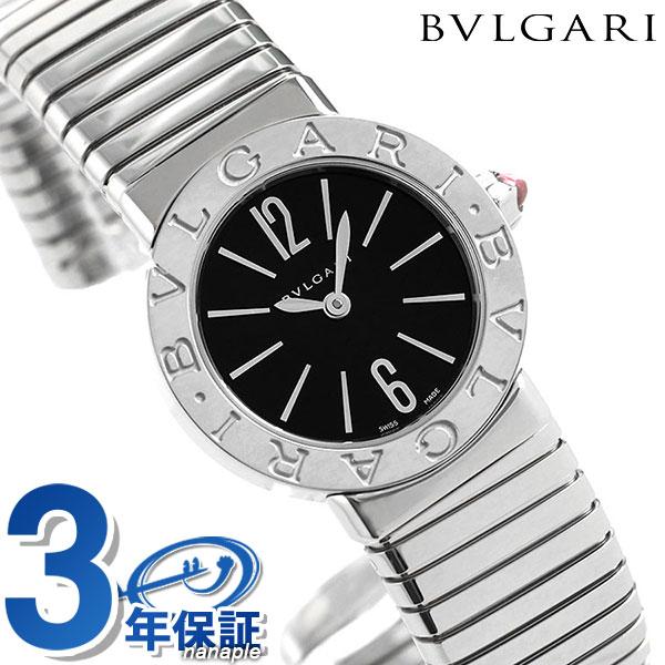 ブルガリ ブルガリブルガリ トゥボガス 26mm 蛇腹式 レディース 腕時計 BBL262TBSS.S BVLGARI ブラック